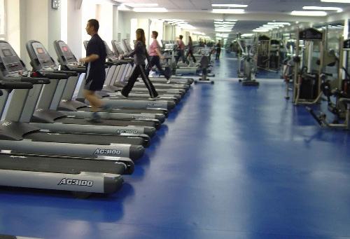 健身房地板胶